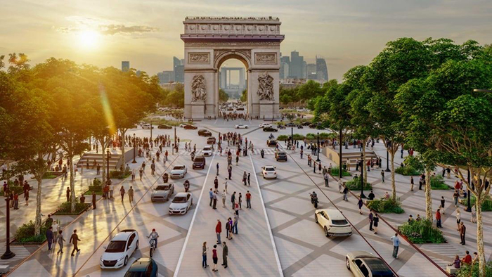 """Champs-Élysées vai virar """"um jardim extraordinário"""""""